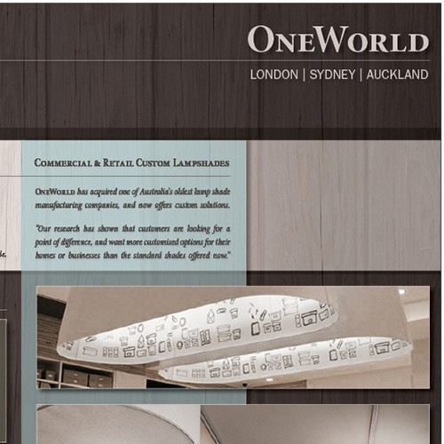 New brochure design wanted for OneWorld Collection