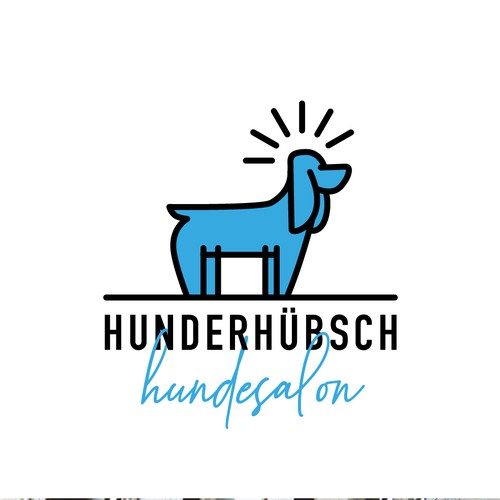 Logo for a dog groomer
