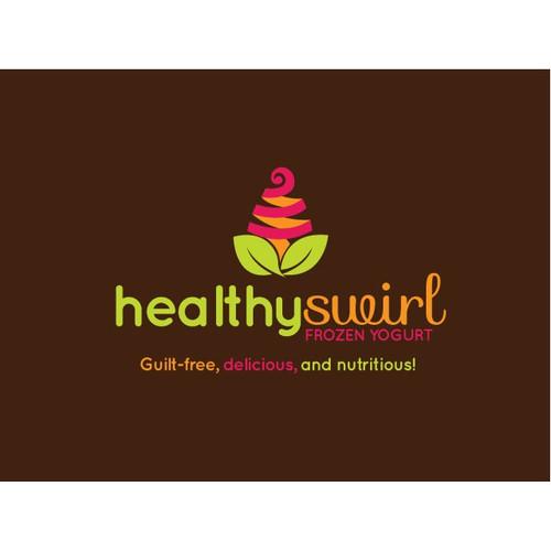 Logo Design for Healthy Swirl Frozen Yogurt