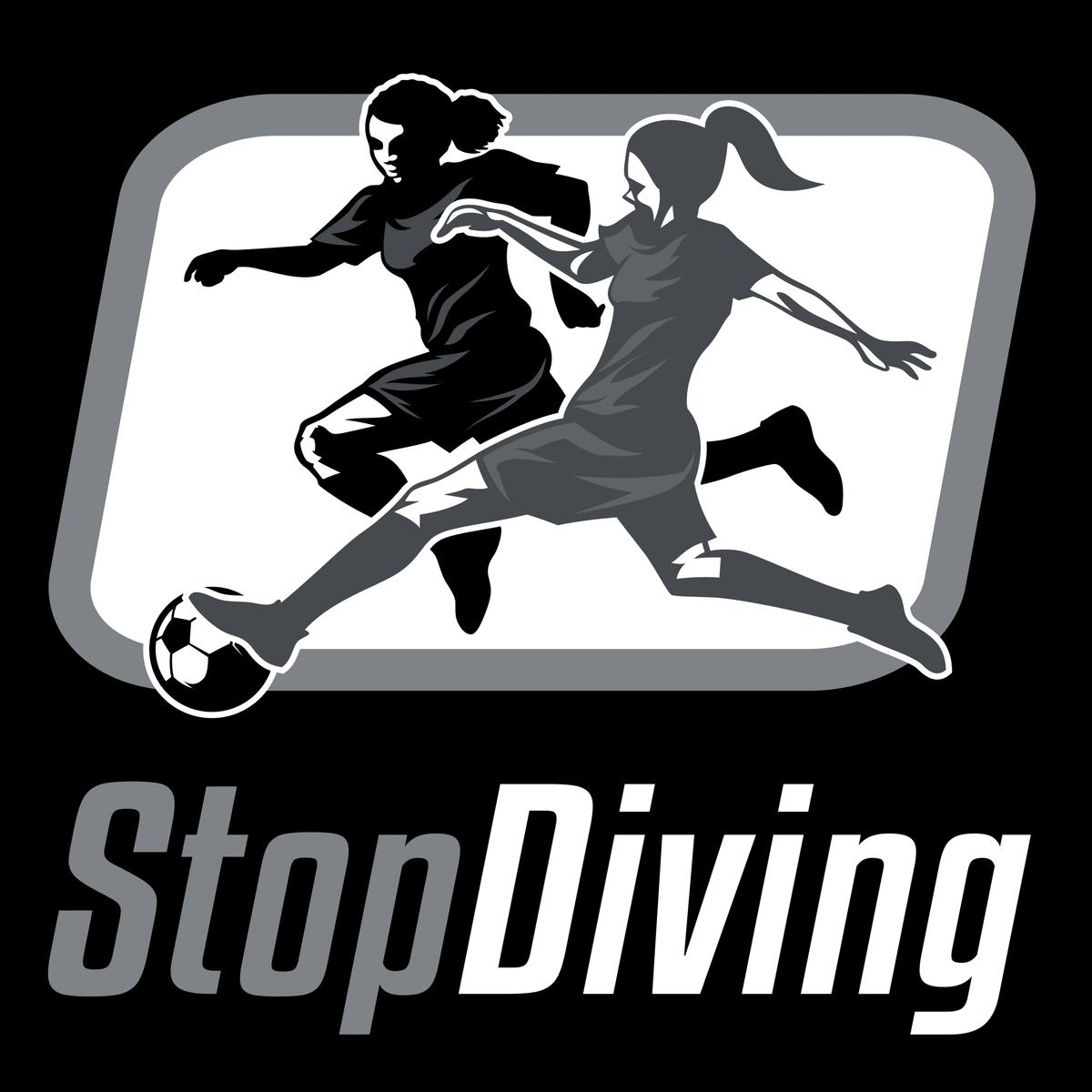 StopDiving logo - female version