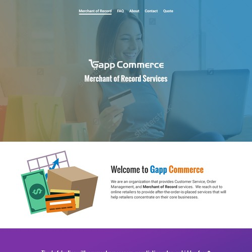Web Design for Ecommerce Service Provider