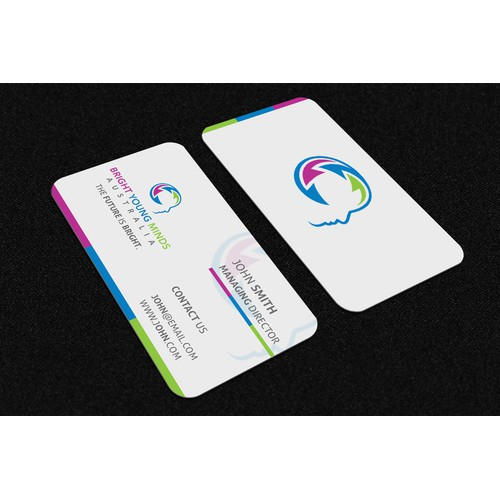 Business Card+Letter Head Youth Mental Health Not-for-profit