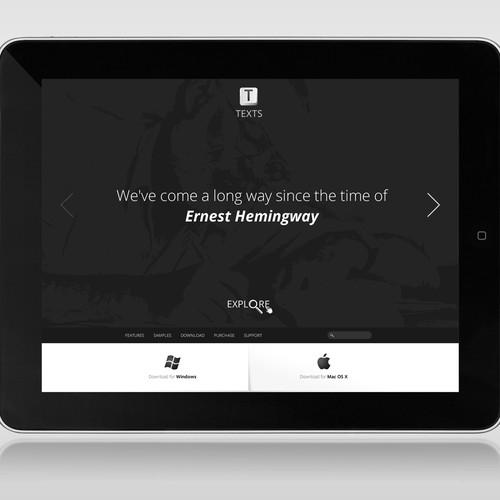 Website design for Text Software