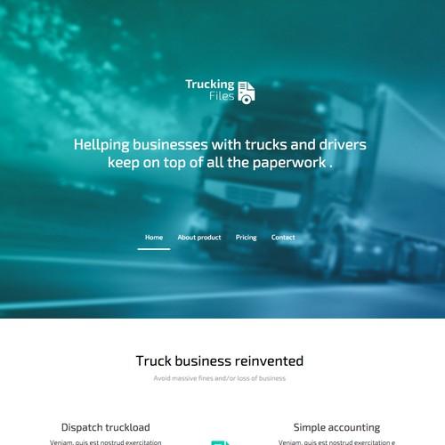 Trucking Files Landing Page