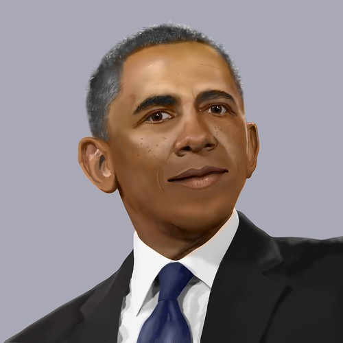 Realistic illustration of Obama