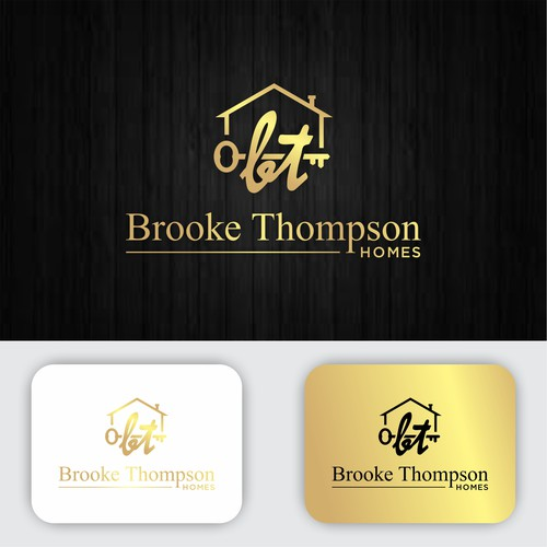 Brooke Thompson Homes A Real Estate Agent Logo That Will Turn Heads
