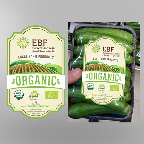 Design a fresh new label for a new organic farm