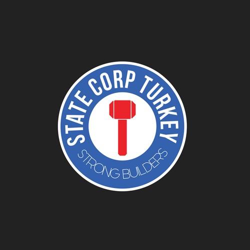 Round logo design for construction firm