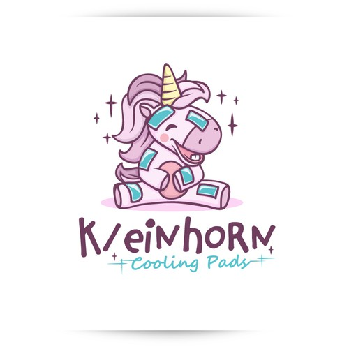 "Unicorn Logo design for the ""KeinHorn"" (cooling pads)"