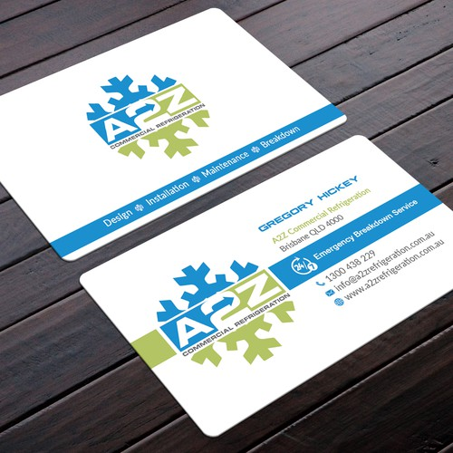 A2Z Commercial Refrigeration Business Card
