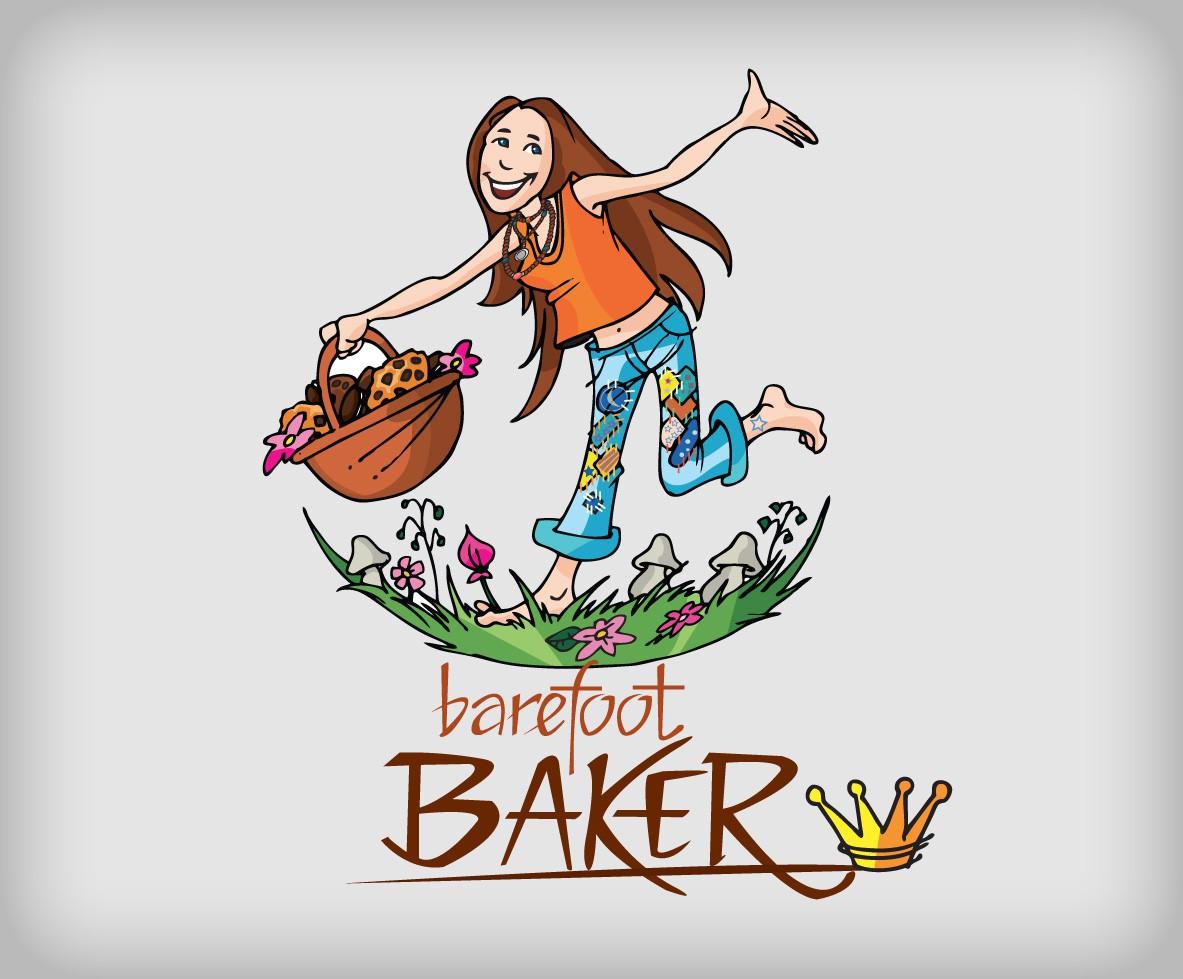 Create the next logo for The Barefoot Baker