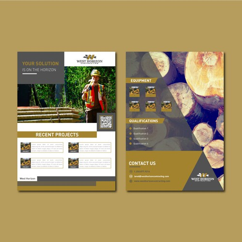 Flyer concept for construction firm