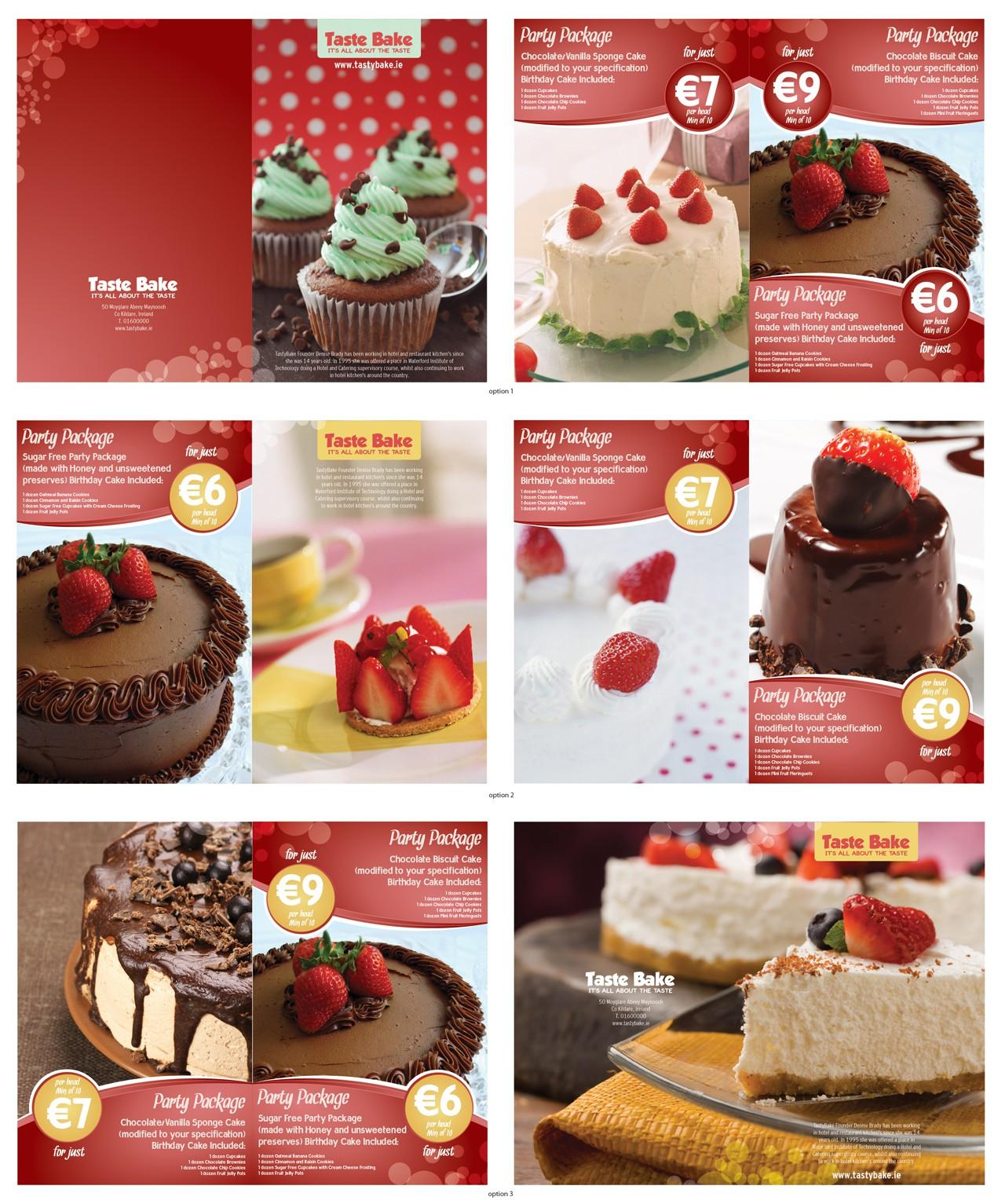 Create the next print or packaging design for TastyBake Ltd
