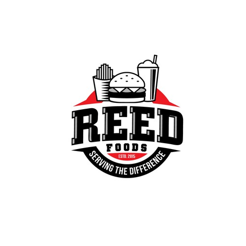 Logo for Reed Foods.