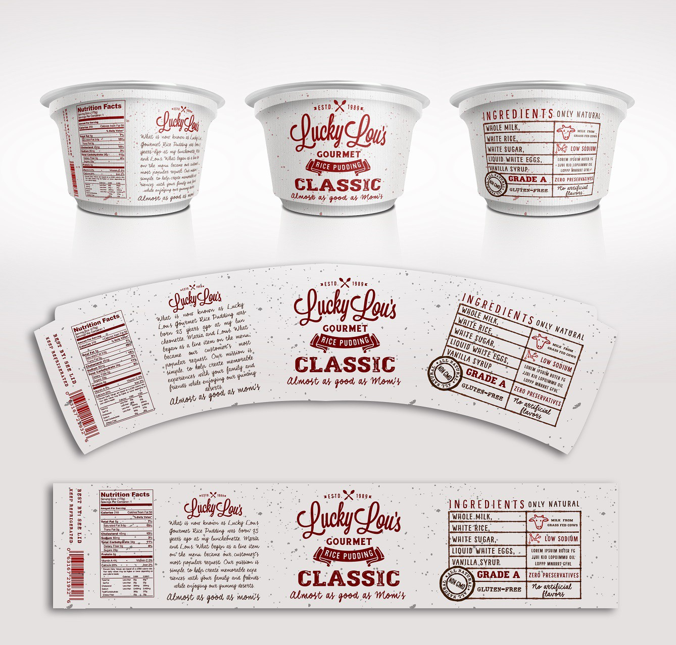 Help Others Enjoy Our Gourmet Rice Pudding - Package Design
