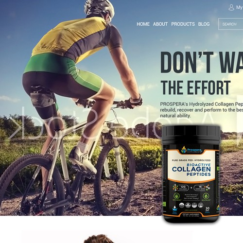 Web Page Design for food supplements