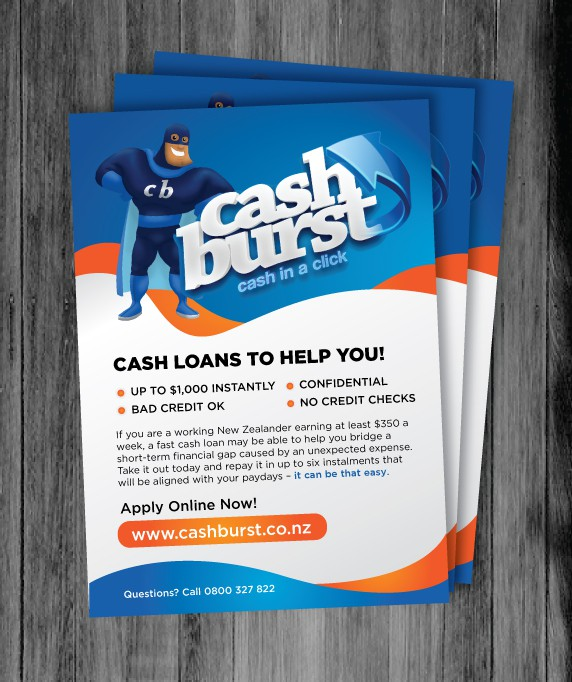 Design a flyer for Cashburst