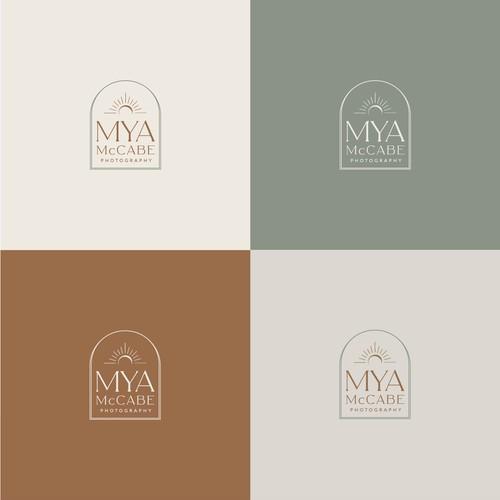 "Logo concept for ""MYA McCABE photography"""""