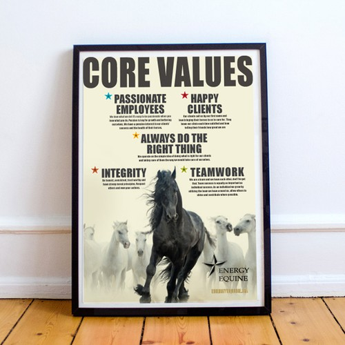 Equine Horse Poster