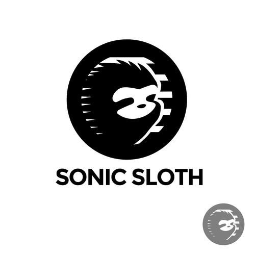 Cool sloth logo