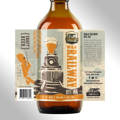 Label design for Annapolis Brewing Co.