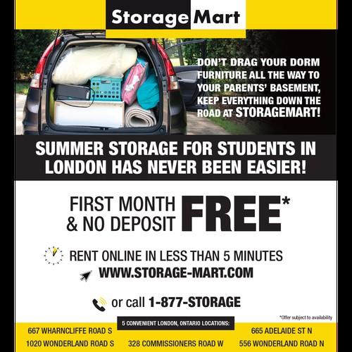 StorageMart newspaper ad
