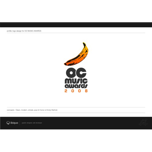 OC Music Awards - Logo design