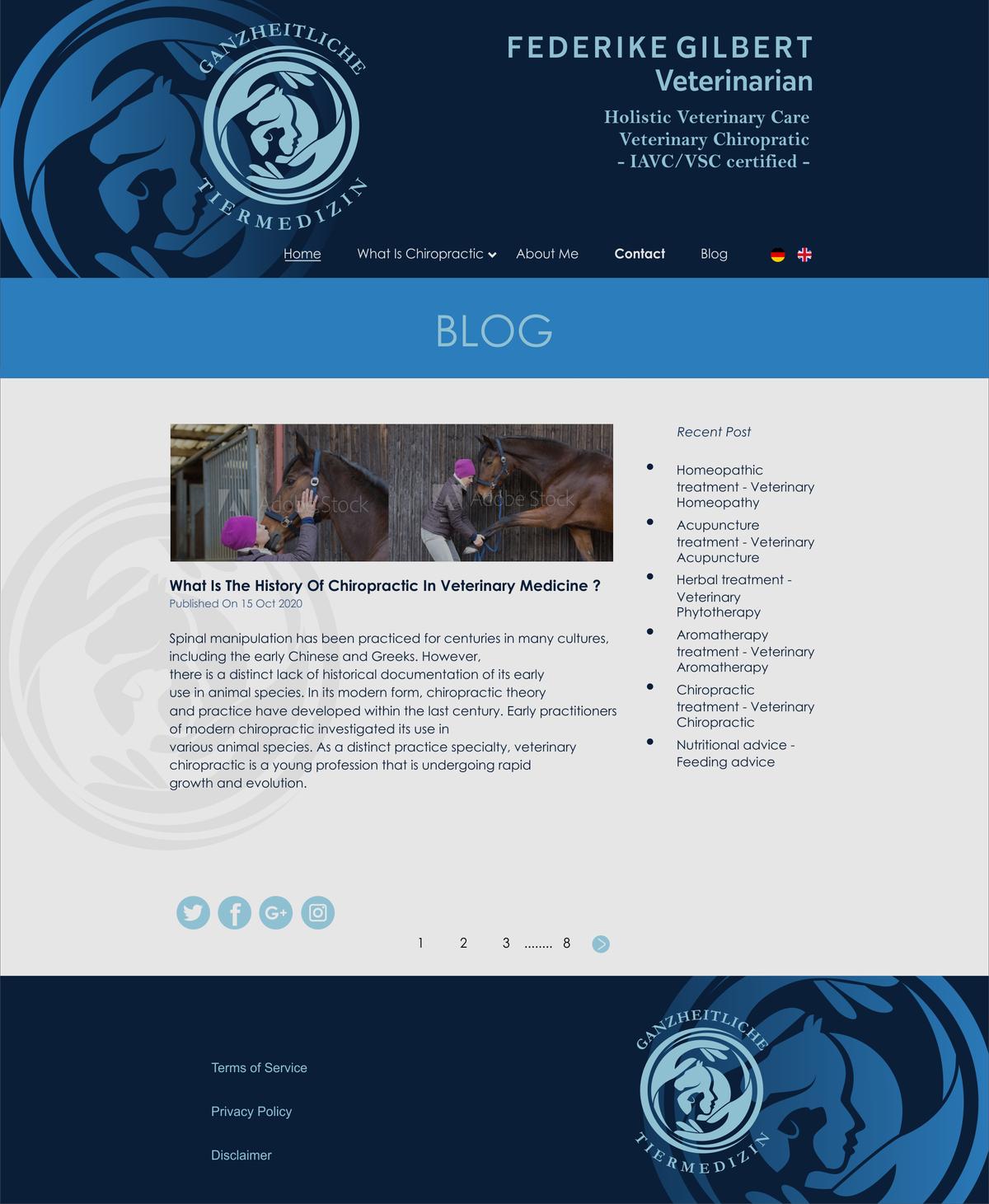 Website design with the logo you just designed