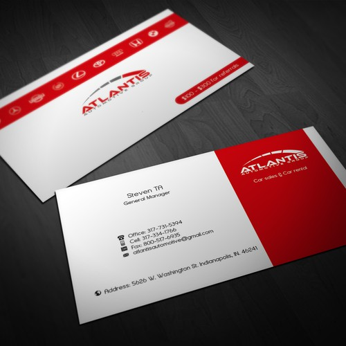 AAA rating Business Card