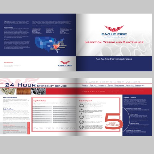 Create the 1st of many brochures for Eagle Fire Inc.