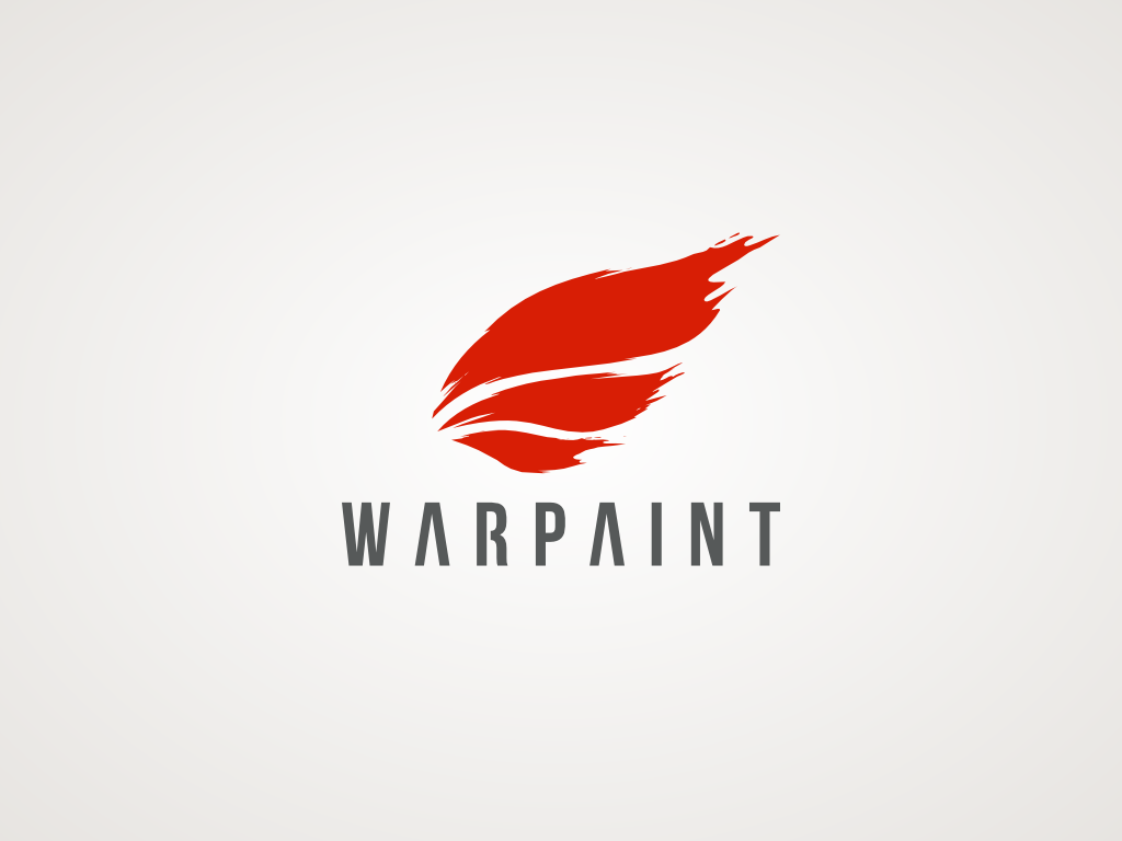 """Create a symbol of the product called Warpaint (I need the """"nike swoosh"""" for my company)"""