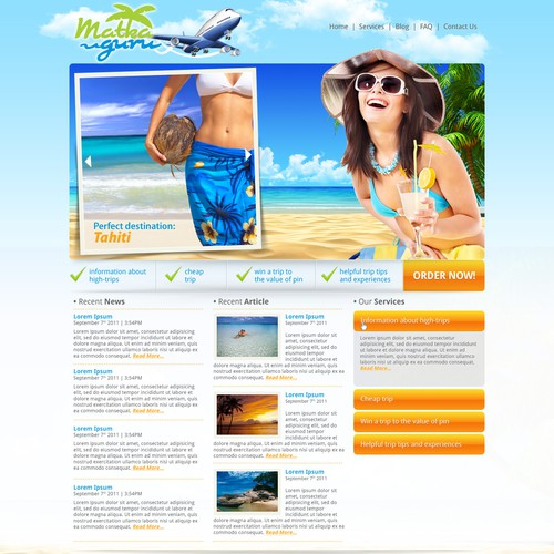 website design for travel site