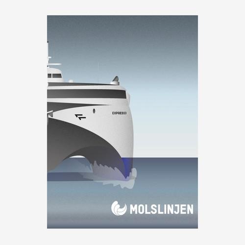 Retro Poster for Shipline