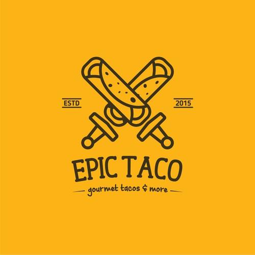 Logo for a gourmet tacos