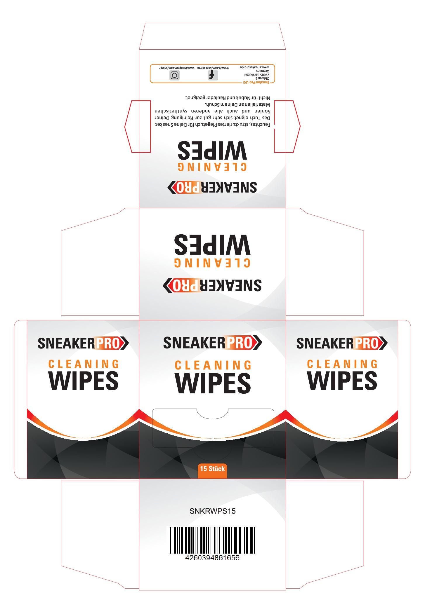 Erstelle ein Verpackungsdesign für Sneaker Cleaning Wipes von SneakerPro