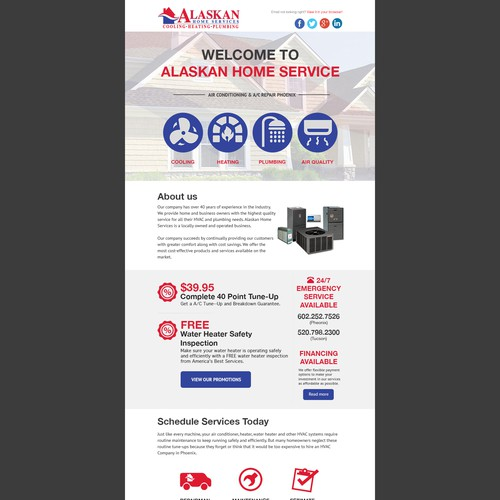Alaskan Home Service Web Design