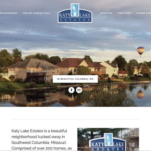 Katy Lake Estates Website on Squarespace