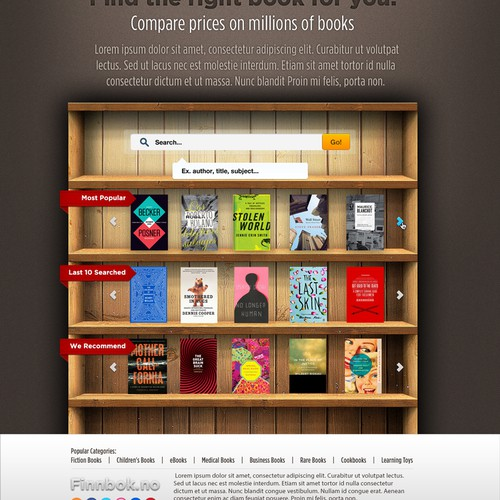 Help design awesome book site