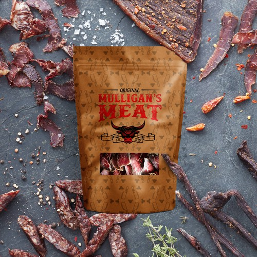 Beef Jerky Package Logo Design