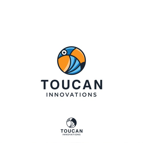 toucan logo, very suitable for industries that need toucan as an icon