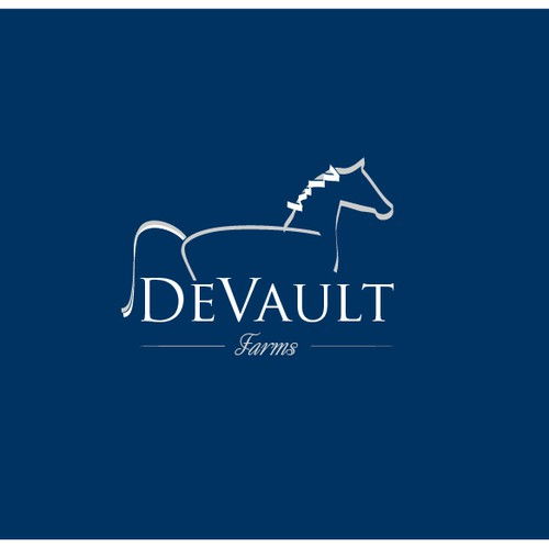 Create a logo for an equestrian/horse business that portrays beauty, elegance,& simplicity