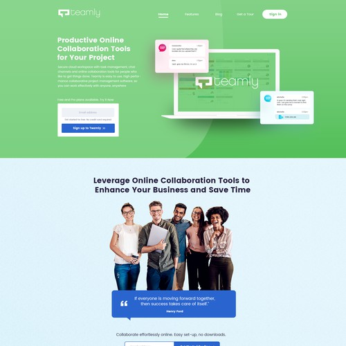 work done for teamly company