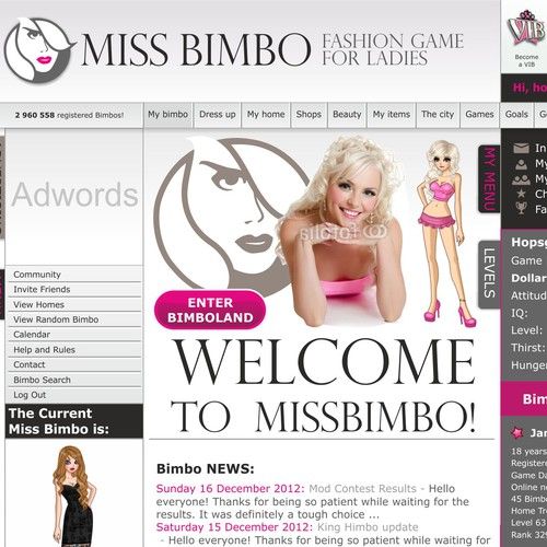 Miss Bimbo.com - edgy cool design wanted!