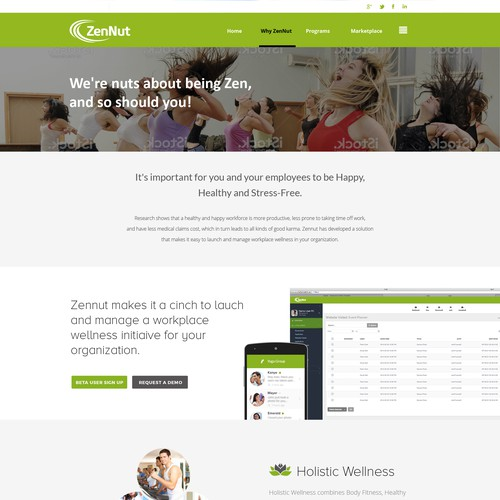 Website for an exciting new Wellness Software company