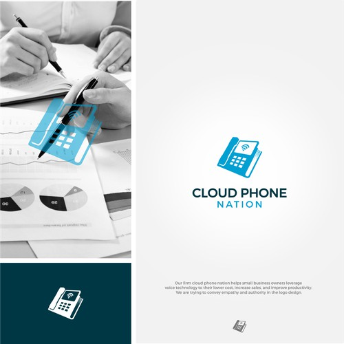 Cloud has save everything information like a book. Concept logo is phone book.