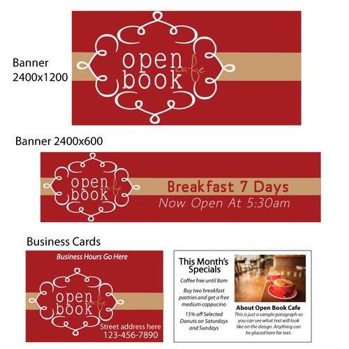 New signage wanted for Open Book Cafe