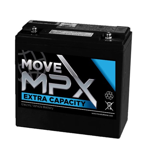 Label design for MOVE Batteries MPX Series