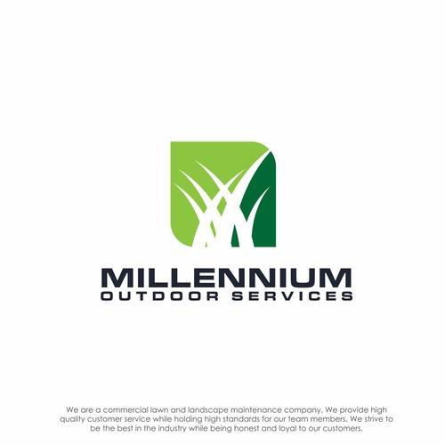 logo concept for Milleinium Outdoor Services