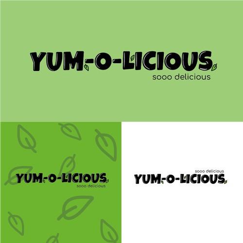 Logo for yum-o-licious