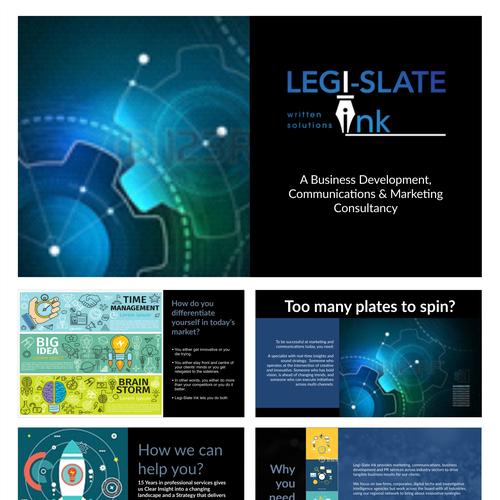 powerpoint template for Legi-Slate Ink